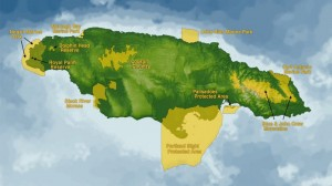 Map showing the major protected areas and nature reserves of Jamaica including the Portland Bight Protected Area, inclusive of the Goat Islands source:http://inweh.unu.edu/jamaica-mpa/