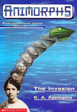 Book cover from the Animorphs series book 1, The Invasion by K.A.Applegate Photo fro wikipedia