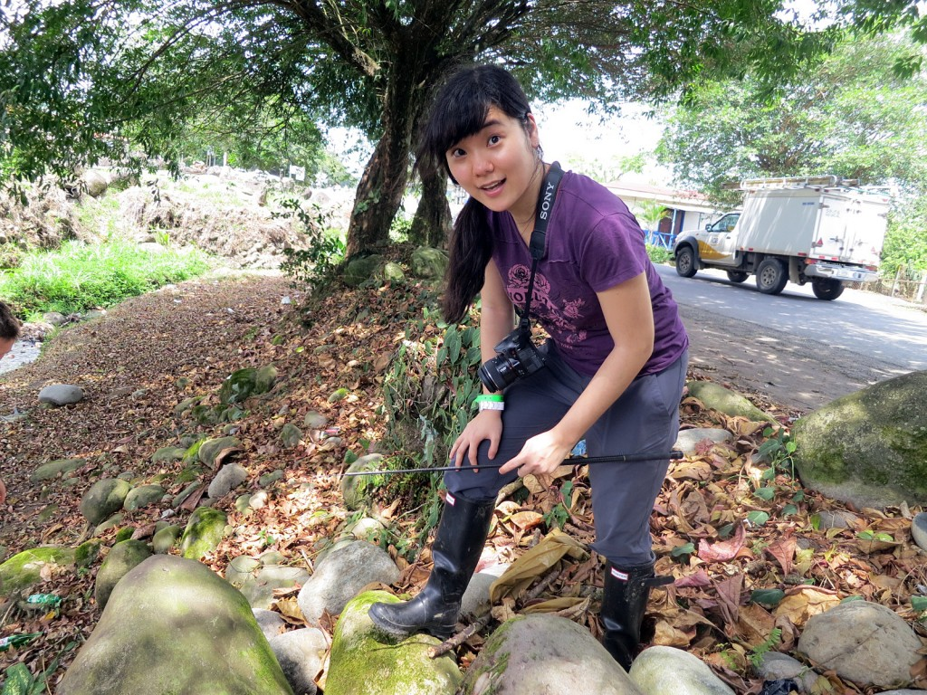 Rachel Moon tracking the elusive crested anole