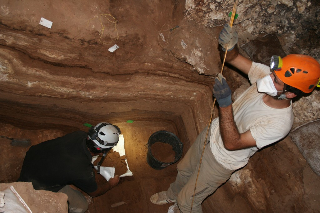 The excavation work in the cave (Picture: A. Lenoble)