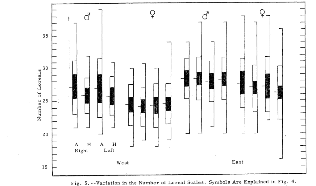 A figure from Gordon (1956). Can we bring back this elegant asymmetric bar graph plotting style?