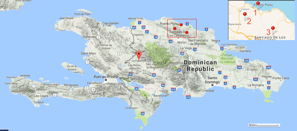 Hispaniola terrain map-2